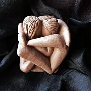 Saint  Sculptures - Wrapped up in each other by Barbara St Jean