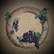Winemaking Framed Prints - Wreath 2 Framed Print by Andrew Drozdowicz