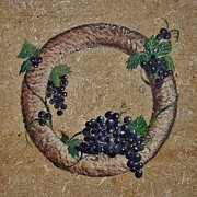Grape Ceramics Framed Prints - Wreath 3 Framed Print by Andrew Drozdowicz