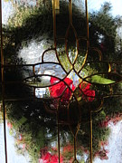 Translucence Posters - Wreath in Abstract Poster by Guy Ricketts