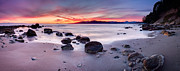 Sunset Photo Metal Prints - Wreck Beach Panorama Metal Print by Alexis Birkill