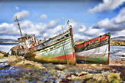 Abandoned Boats Prints - Wrecked Boats Print by Craig Brown
