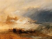 Romanticism Posters - Wreckers off the coast of Northumberland Poster by Joseph Mallord William Turner