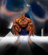 African American Male Painting Posters - Wrestle With Darkness Struggle For The Light Poster by Reggie Duffie
