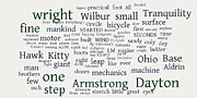 Word Cloud Prints - Wright Brothers and Neil Armstrong Cloud Print by David Bearden