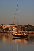 Boast Prints - Wrightsville Beach Boat in Harbor Print by Michael Weeks