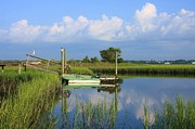 Tidal Photographs Posters - Wrightsville Marsh Poster by Michael Weeks