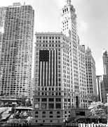 Flag Originals - Wrigley Building Chicago by Mike Maher