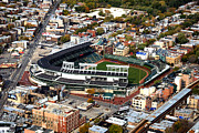 Cubs Baseball Park Prints - Wrigley Field Chicago Sports 01 Print by Thomas Woolworth