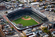 Cubs Baseball Park Prints - Wrigley Field Chicago Sports 02 Print by Thomas Woolworth