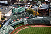 Mlb Metal Prints - Wrigley Field Chicago Sports 04 Metal Print by Thomas Woolworth