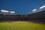 Left Field Framed Prints - Wrigley Field from Left FIeld Bleachers Framed Print by Aaron Edrington