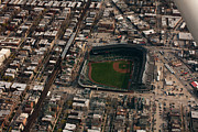 Friendly Confines Posters - Wrigley Field from the Air Poster by Anthony Doudt