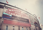 Chicago Baseball Framed Prints - Wrigley Field Framed Print by Jessie Gould