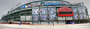 Friendly Confines Posters - Wrigley Field on Clark Poster by David Bearden