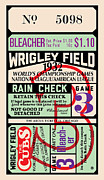 Gary Posters - Wrigley Field Ticket Poster by Gary Grayson