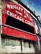Baseball Field Framed Prints - Wrigley Red Framed Print by Jame Hayes