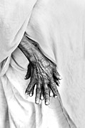 Praying Hands Prints - Wrinkle Print by Arindam Shivaani