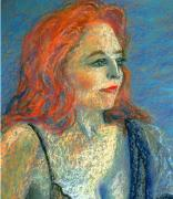 Contemplating Pastels - Writer and Singer Contemplating by Asha Carolyn Young