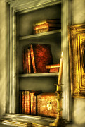 Treasure Box Metal Prints - Writer - In the Library  Metal Print by Mike Savad