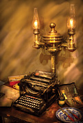 Upright Posters - Writer - Remington Typewriter Poster by Mike Savad