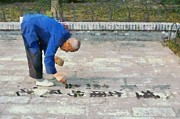 - Occupy Beijing Paintings - Writing with water by George Atsametakis
