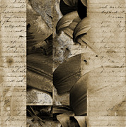 Italian American Mixed Media Prints - Written III Print by Yanni Theodorou