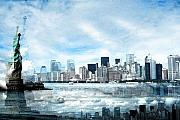 Brooklyn Usa Digital Art Prints - Wrong Expectations New York City USA Print by Sabine Jacobs