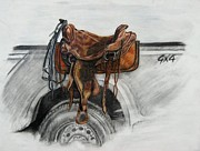 Ford Truck Drawings - Wrong Horsepower by Melissa Fuller