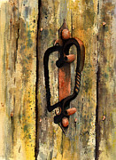 Door Paintings - Wrought Iron Handle by Sam Sidders