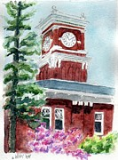 Wa Paintings - WSU Clocktower by Wendy Ray