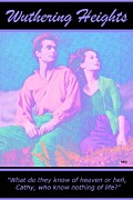 Famous Book Digital Art - Wuthering Heights Modern Movie Poster - Vintage Pop Art Romance by ARTDESTINY by Michele Morata