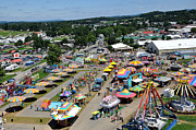 Wv Framed Prints - WV State Fair Birds Eye View Framed Print by Todd Hostetter
