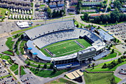 Pittsburgh Pirates Prints - WVU Mountaineer Stadium Aerial Print by Mattucci Photography