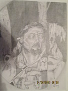 Theater Drawings - WW II Infantry by Garland Bell