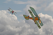 Biplane Prints - WW1 - Fighting Colours Print by Pat Speirs