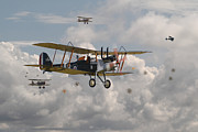 Biplane Posters - WW1 RE8 Aircraft Poster by Pat Speirs