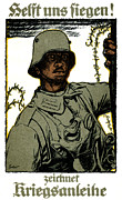 World War One Paintings - WWI German War Bond Poster by Historic Image