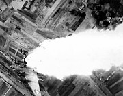 Greatest Generation Photo Prints - WWII B-17 Explodes over Germany Print by Historic Image