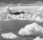 Greatest Generation Photo Prints - WWII Liberator Express in Flight Print by Historic Image