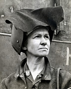 Greatest Generation Photo Prints - WWII Rosie the Riveter Print by Historic Image