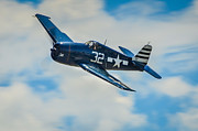 Grumman Prints - WWII United States Carrier Group Fighter Grumman F6F Print by Puget  Exposure