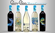 Vineyards Glass Art - www.CareyChenWine.com by Carey Chen