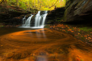 Bear Rocks Prints - Wyandot Falls Print by Bernard Chen
