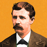 Gunfight Digital Art - Wyatt Earp 20130518 square by Wingsdomain Art and Photography