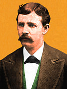 Moustache Digital Art Prints - Wyatt Earp 20130518 Print by Wingsdomain Art and Photography