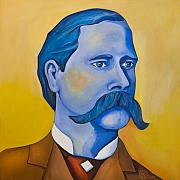 Corral Metal Prints - Wyatt Earp Metal Print by Robert Lacy