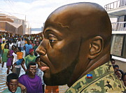 Haiti Paintings - Wyclef Jean by Curtis James