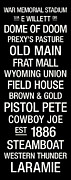 E Black Photo Prints - Wyoming College Town Wall Art Print by Replay Photos