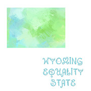 Abstract Map Prints - Wyoming - Equality State - Map - State Phrase - Geology Print by Andee Photography